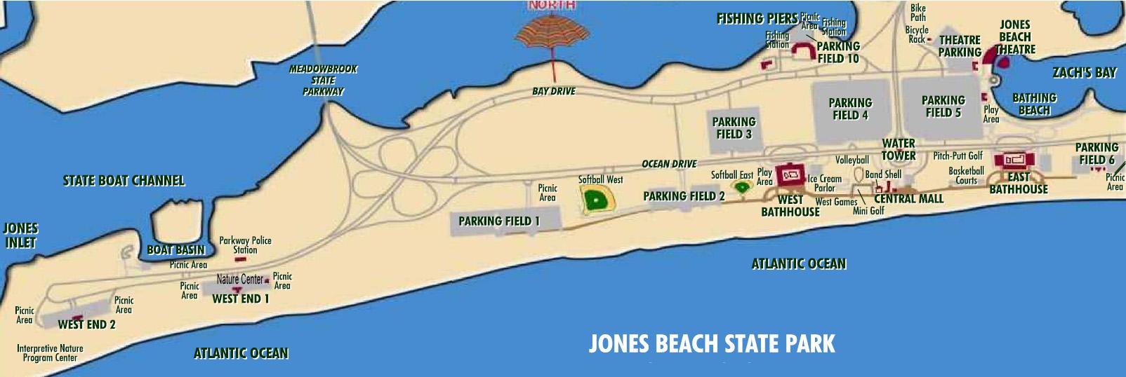 Jones Beach Map The Best Beaches In World